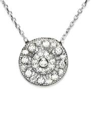 Gemma Collection Silver Filigree Necklace - Product Mini Image