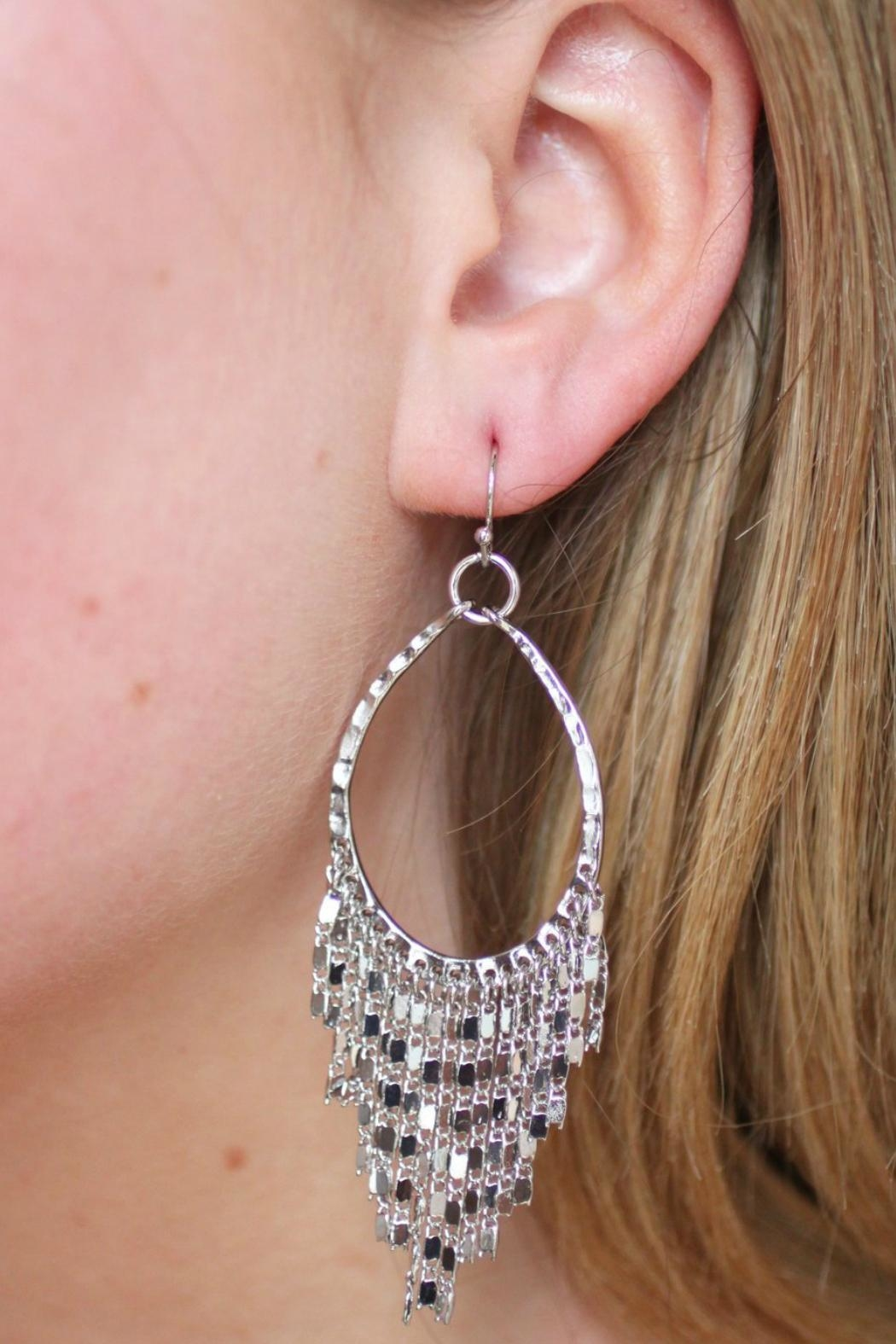 Gemma Collection Silver Fringe Earrings - Main Image