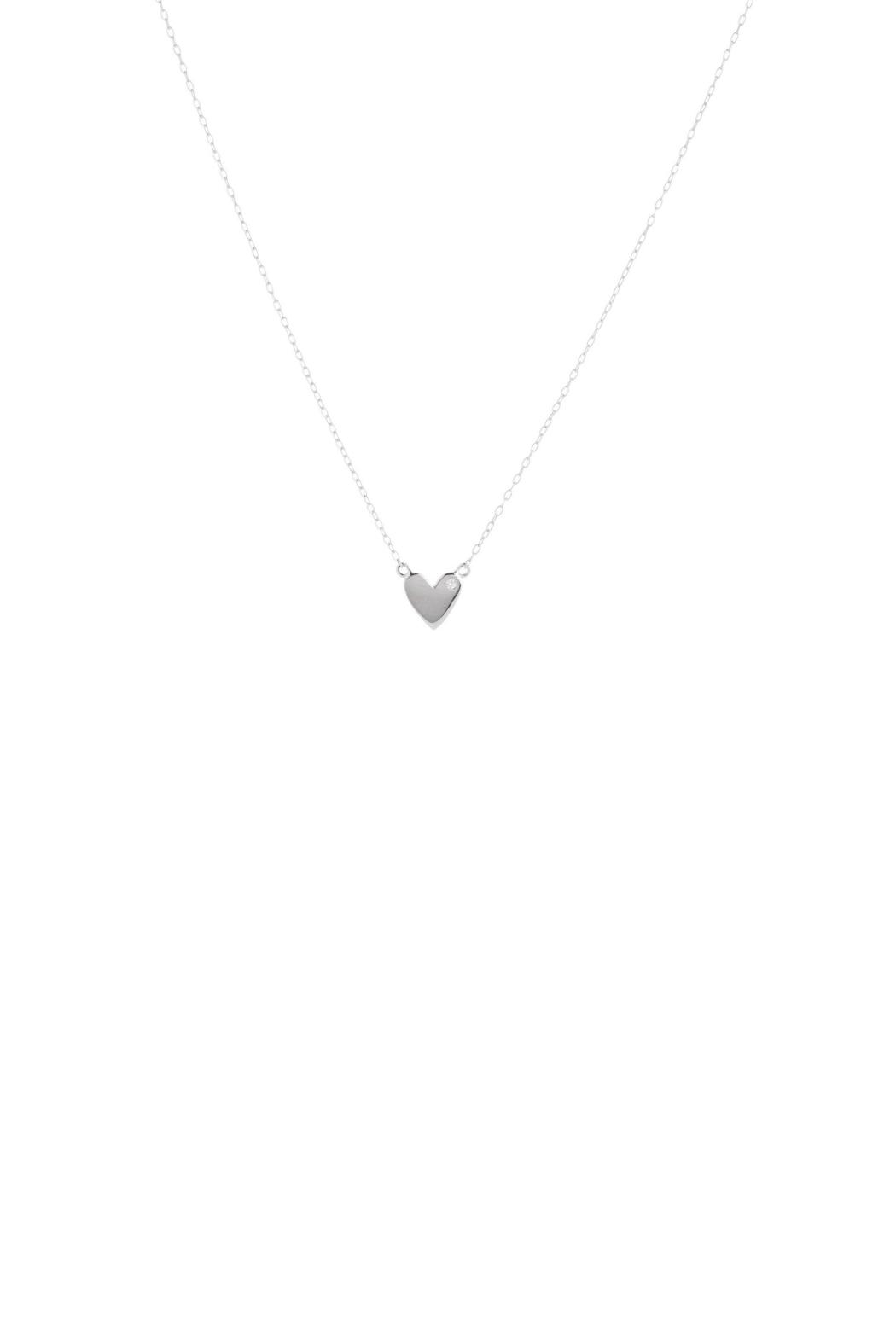 Gemma Collection Silver Heart Necklace - Main Image