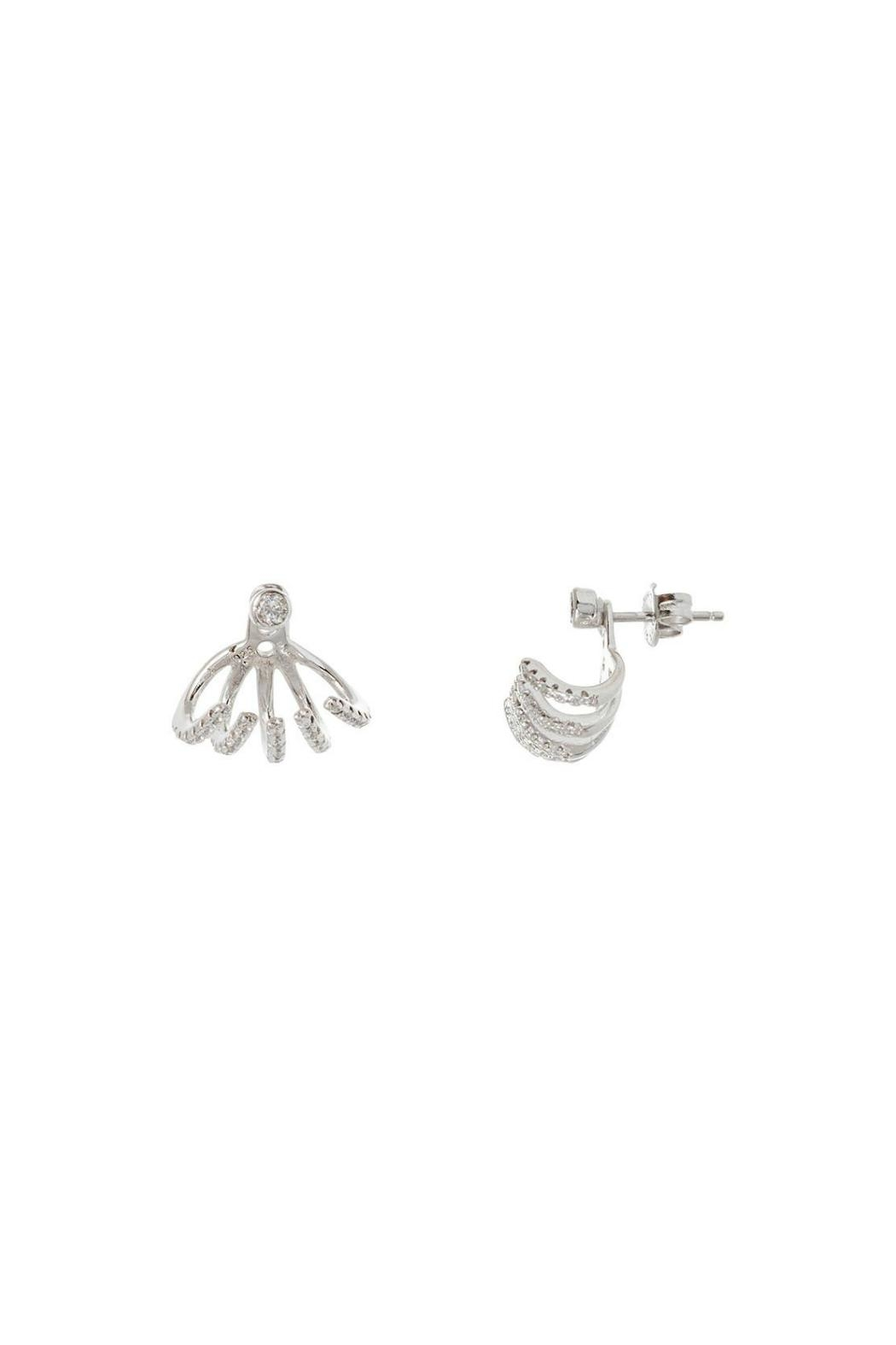 Gemma Collection Silver Jacket Earrings - Main Image