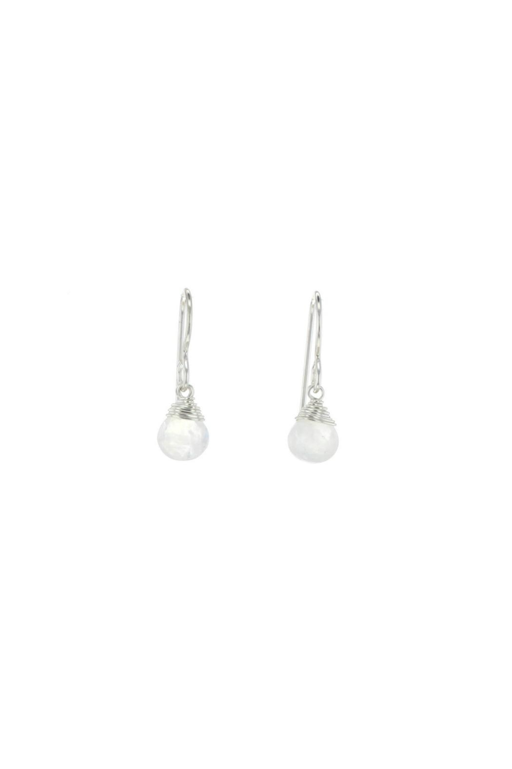Gemma Collection Silver Moonstone Earrings - Main Image