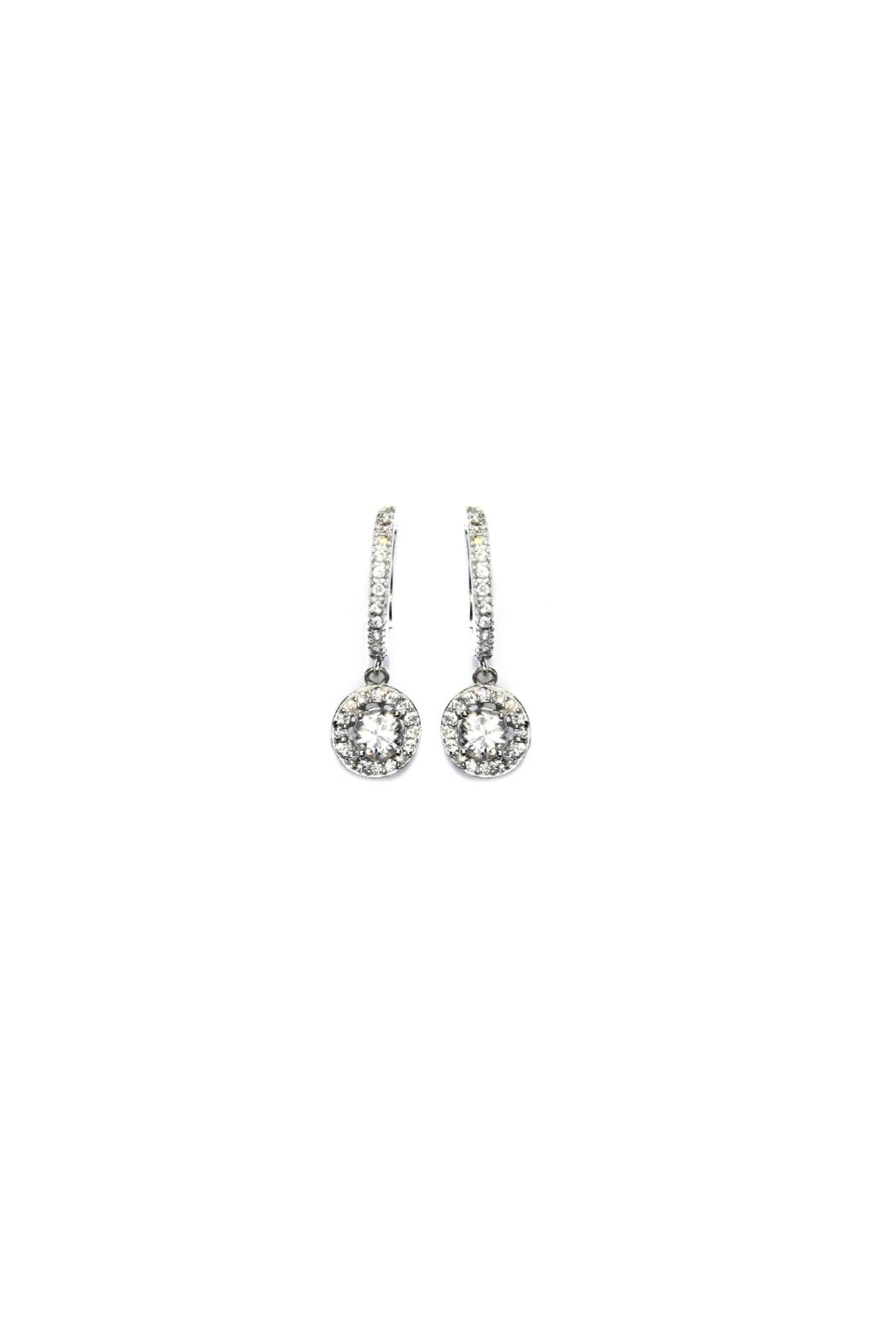 Gemma Collection Silver Pave Huggies - Main Image