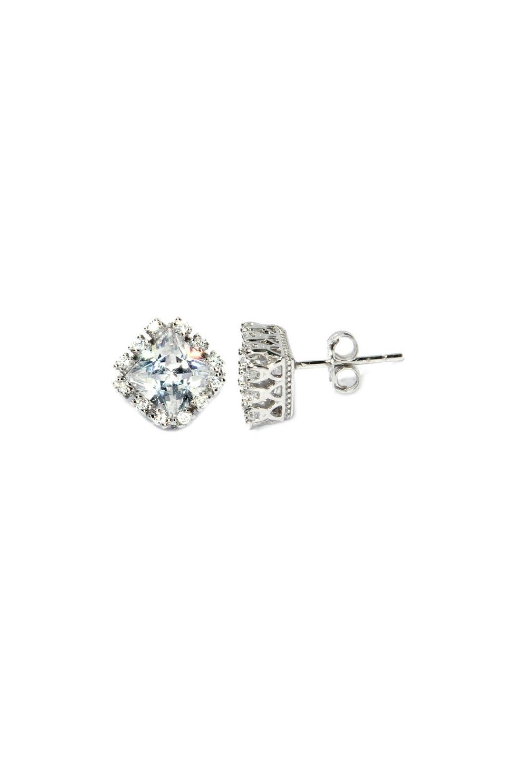 Gemma Collection Silver Pave Studs - Main Image
