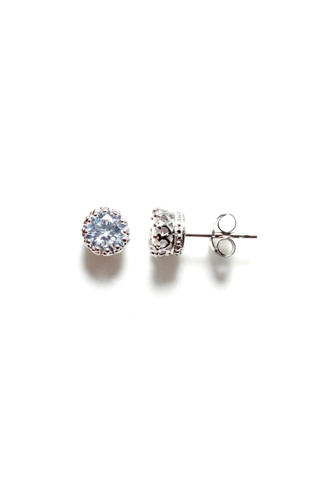 Gemma Collection Silver Solitaire Studs - Main Image