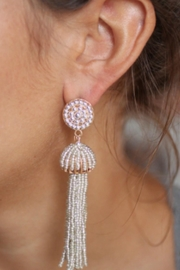 Gemma Collection Silver Tassel Earrings - Product Mini Image