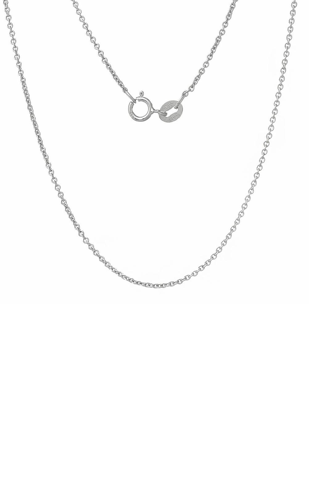 Gemma Collection Silver Wishbone Necklace - Front Full Image