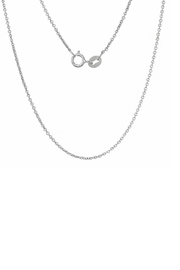 Gemma Collection Silver Wishbone Necklace - Front full body