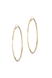 Gemma Collection Simple Gold Hoop Earrings - Front cropped