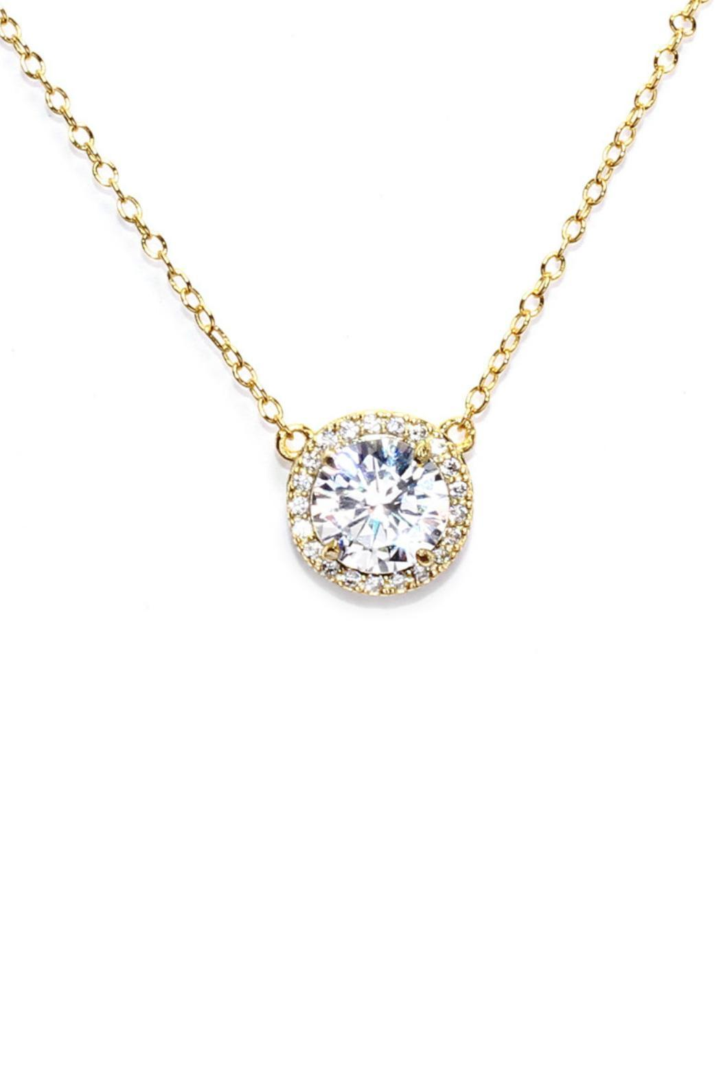 Gemma Collection Solitaire Halo Necklace - Main Image