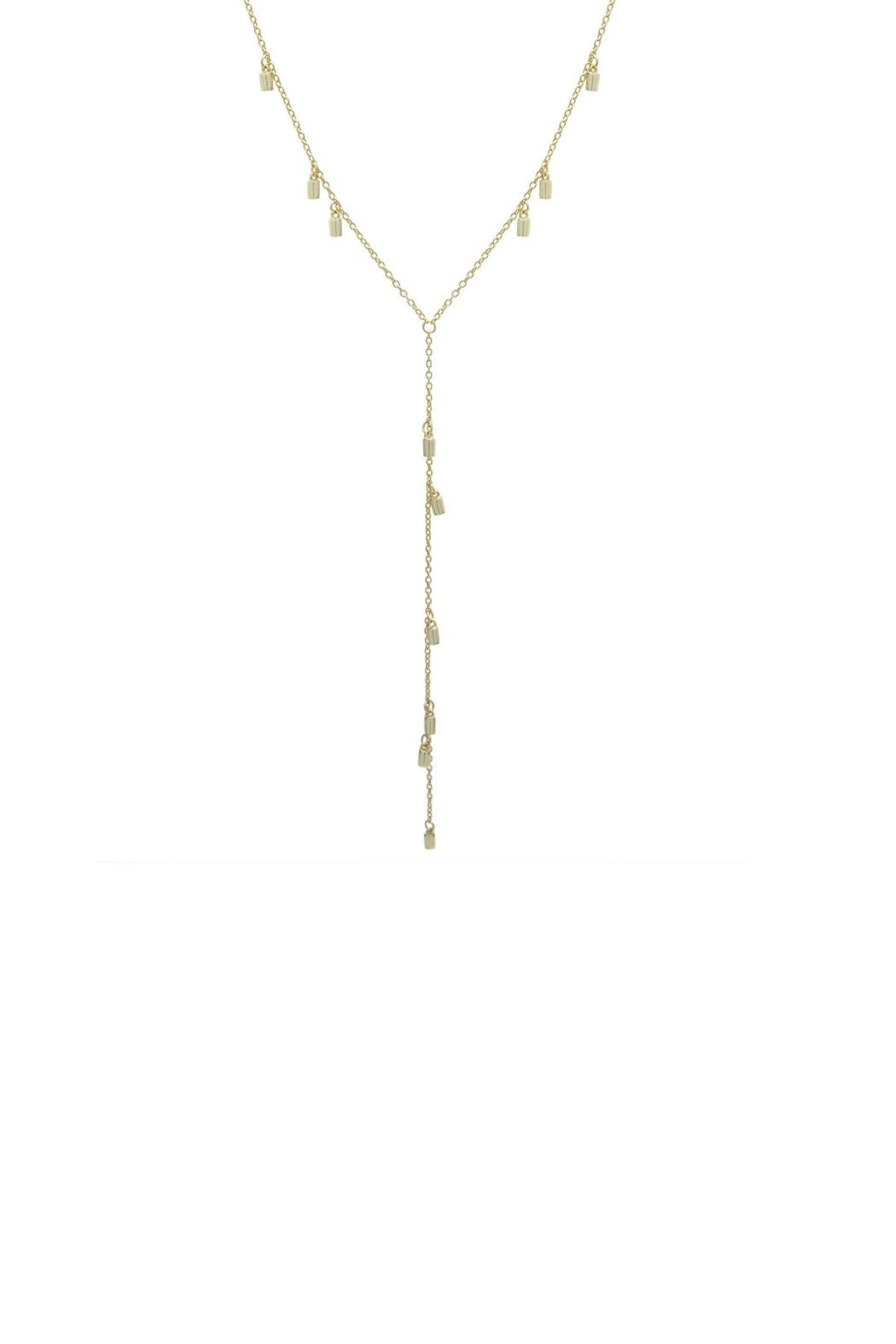 Gemma Collection Station Lariat Necklace - Main Image