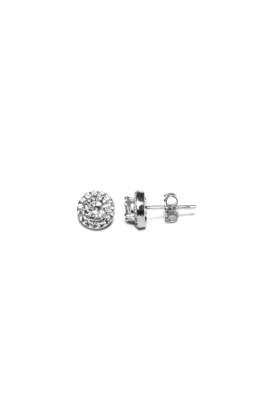 Gemma Collection Sterling Pave Studs - Main Image