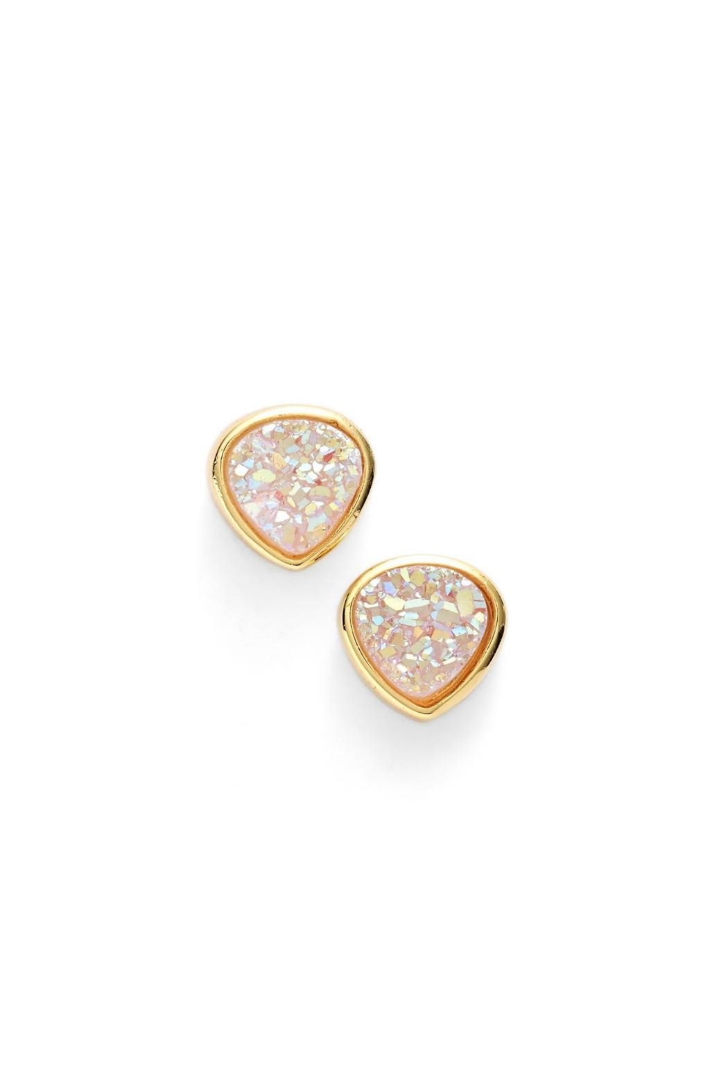 Gemma Collection Teardrop Druzy Studs - Main Image