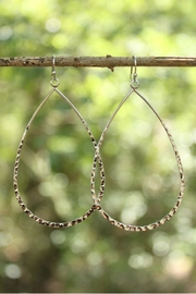 Gemma Collection Textured Teardrop Earrings - Product Mini Image