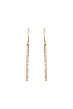 Gemma Collection Thin Bar Earrings - Alternate List Image