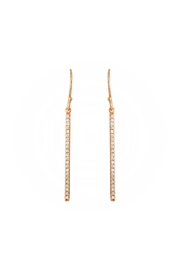 Gemma Collection Thin Bar Earrings - Front cropped