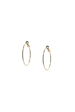 Shoptiques Product: Thin Round Hoops