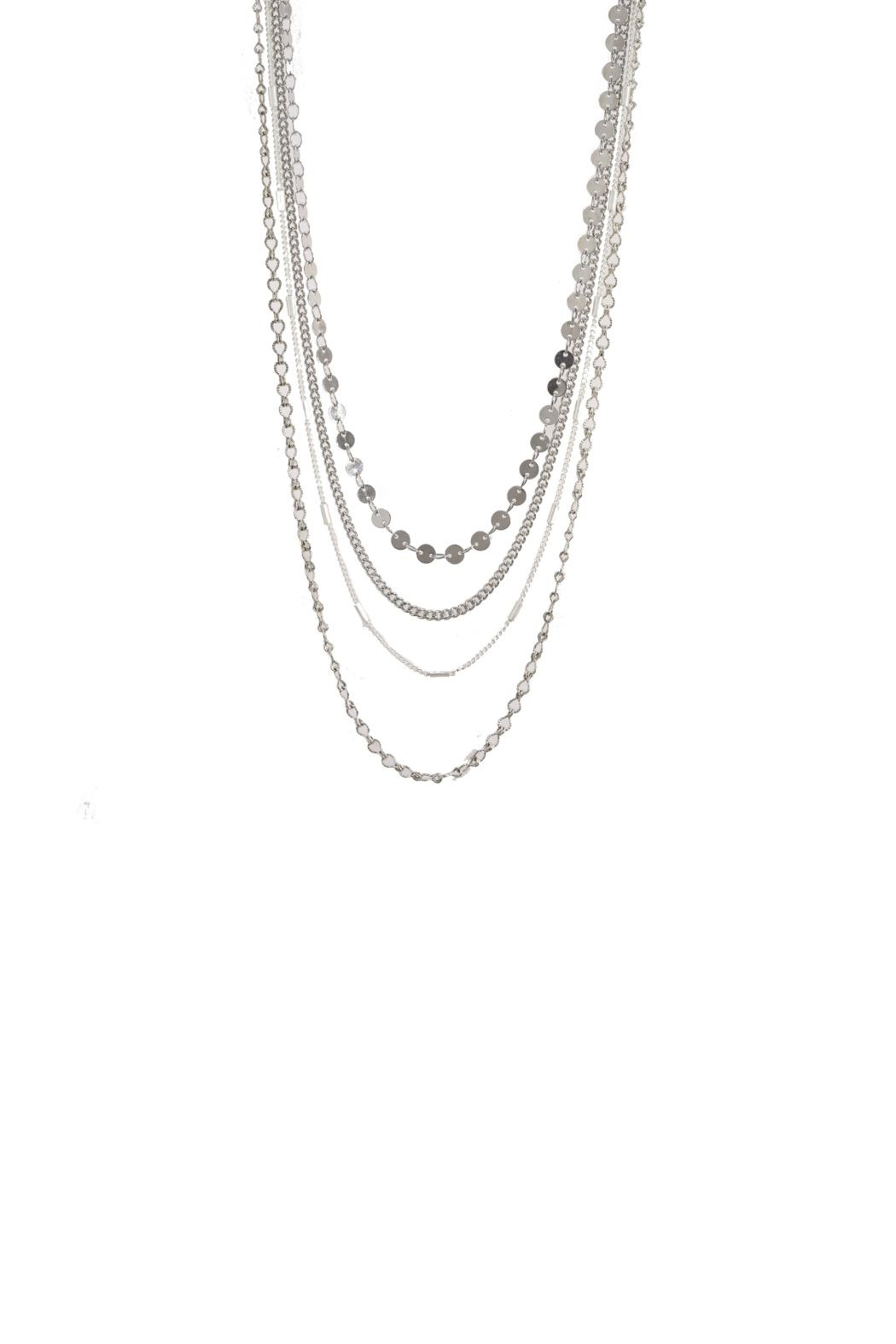 Gemma Collection Tiered Chain Necklace - Main Image