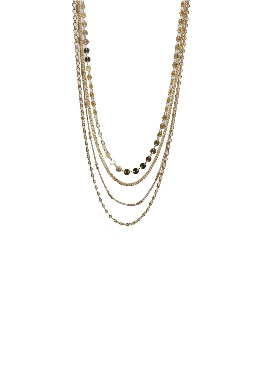 Gemma Collection Tiered Chain Necklace - Front Cropped Image