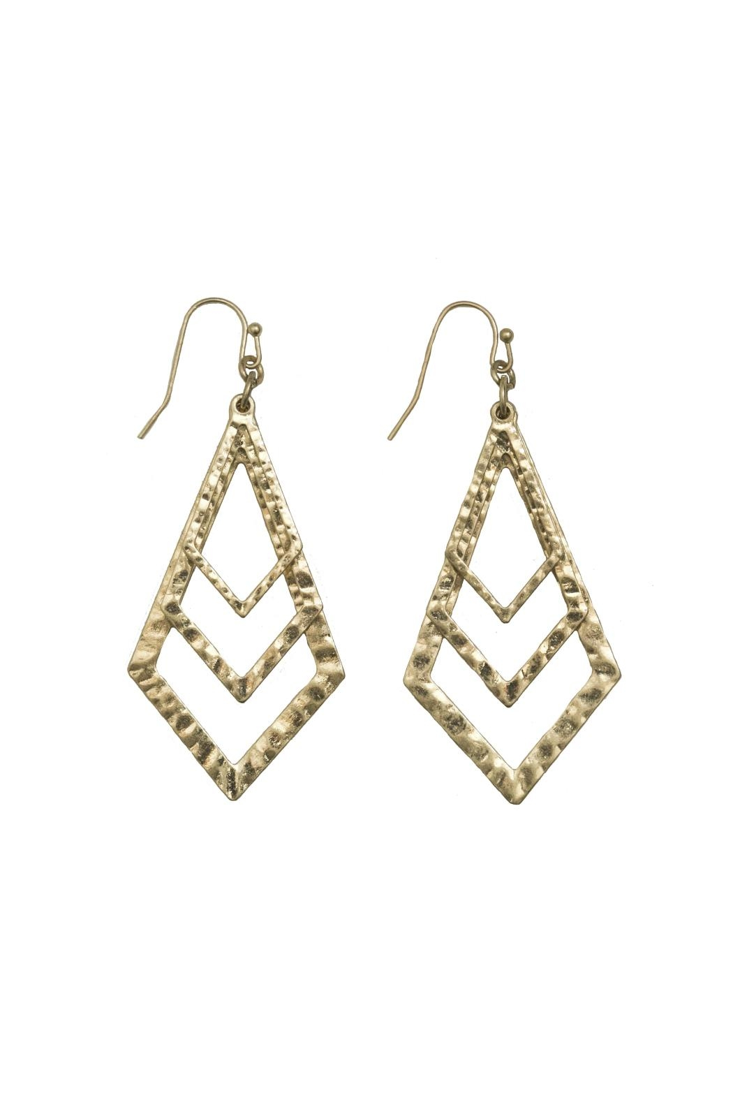 Gemma Collection Tiered Kite Earrings - Main Image