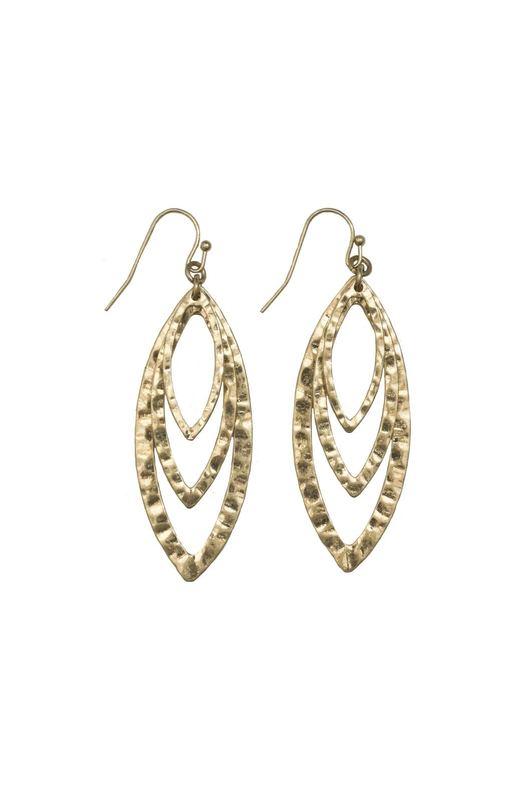 Gemma Collection Tiered Marquise Earring - Main Image