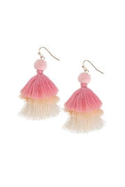 Gemma Collection Tiered Tassel Earrings - Product Mini Image
