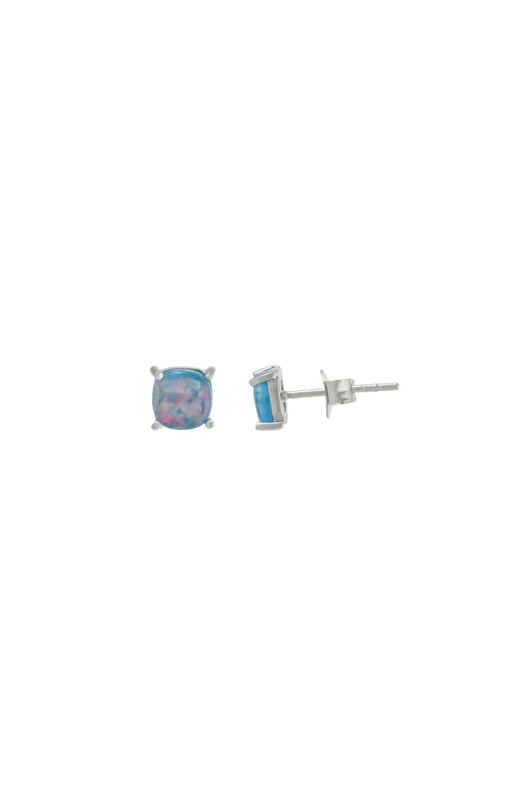 Gemma Collection Tiny Opal Stud Earrings - Main Image