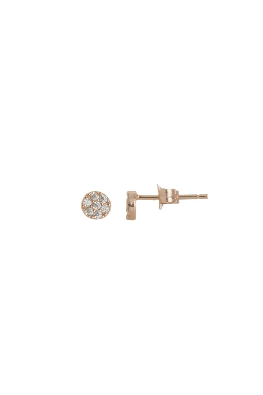 Gemma Collection Tiny Pave Studs - Front Cropped Image