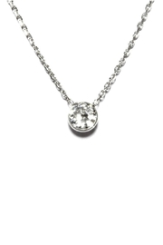 Gemma Collection Tiny Solitaire Necklace - Product Mini Image