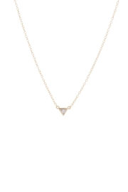 Gemma Collection Tiny Triangle Necklace - Product Mini Image
