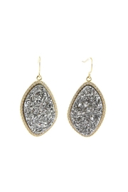 Gemma Collection Titanium Druzy Earrings - Product Mini Image