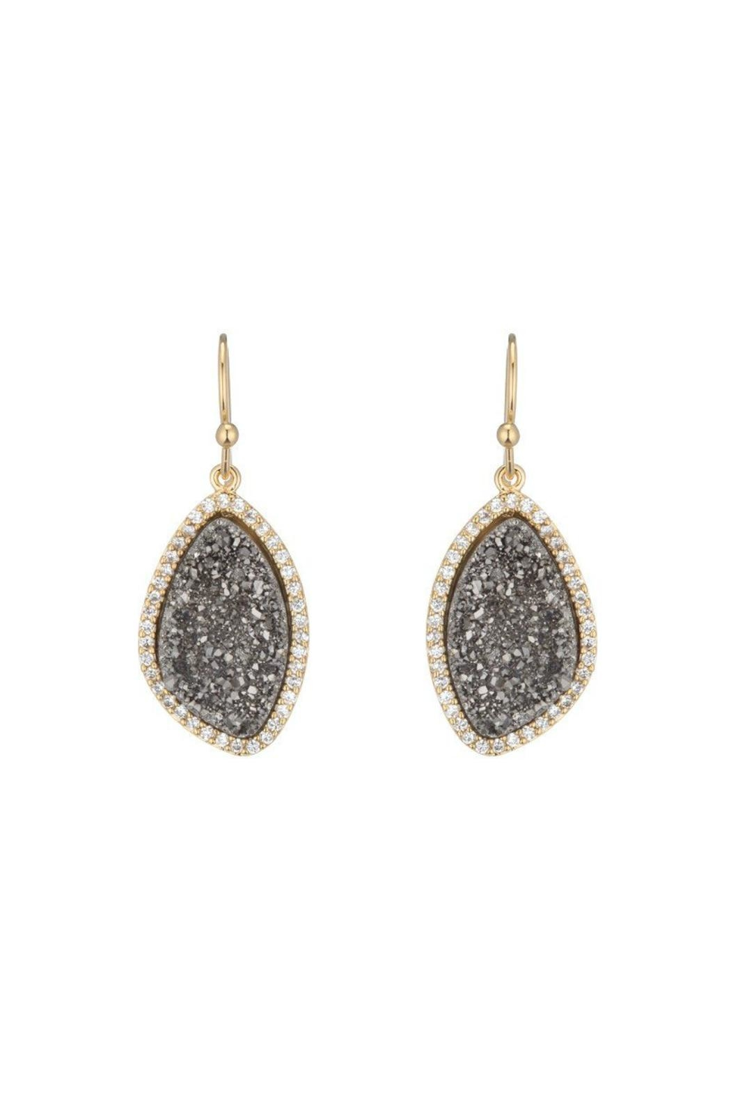 Gemma Collection Titanium Druzy Earrings - Main Image