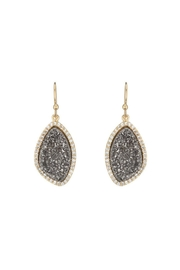 Gemma Collection Titanium Druzy Earrings - Front cropped
