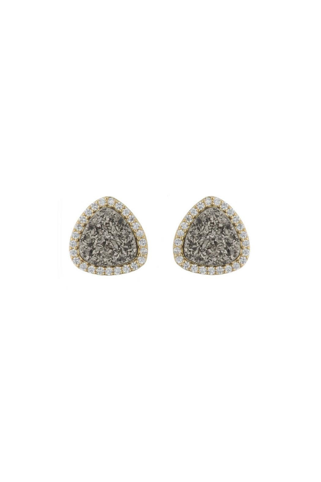Gemma Collection Titanium Druzy Studs - Front Cropped Image
