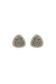 Gemma Collection Titanium Druzy Studs - Front cropped