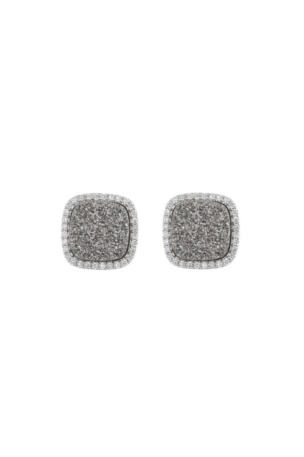 Gemma Collection Titanium Druzy Studs - Main Image