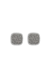 Gemma Collection Titanium Druzy Studs - Product Mini Image