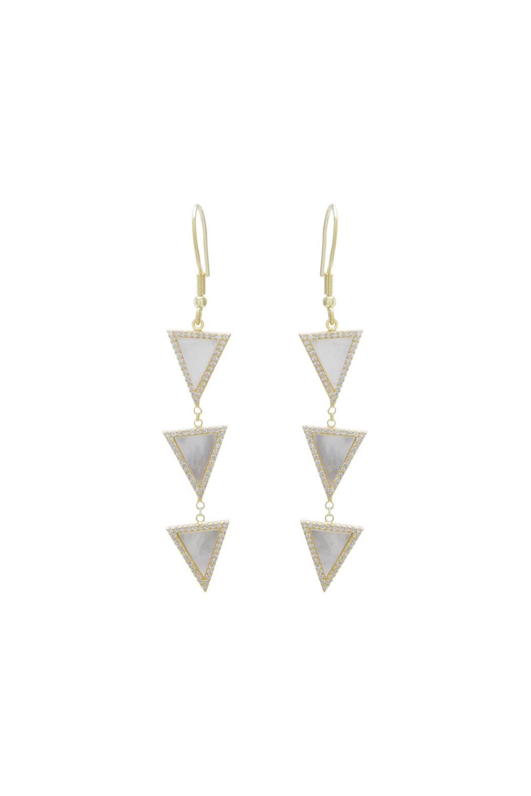 Gemma Collection Triangle Dangle Earrings - Front Cropped Image