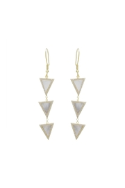 Gemma Collection Triangle Dangle Earrings - Front cropped