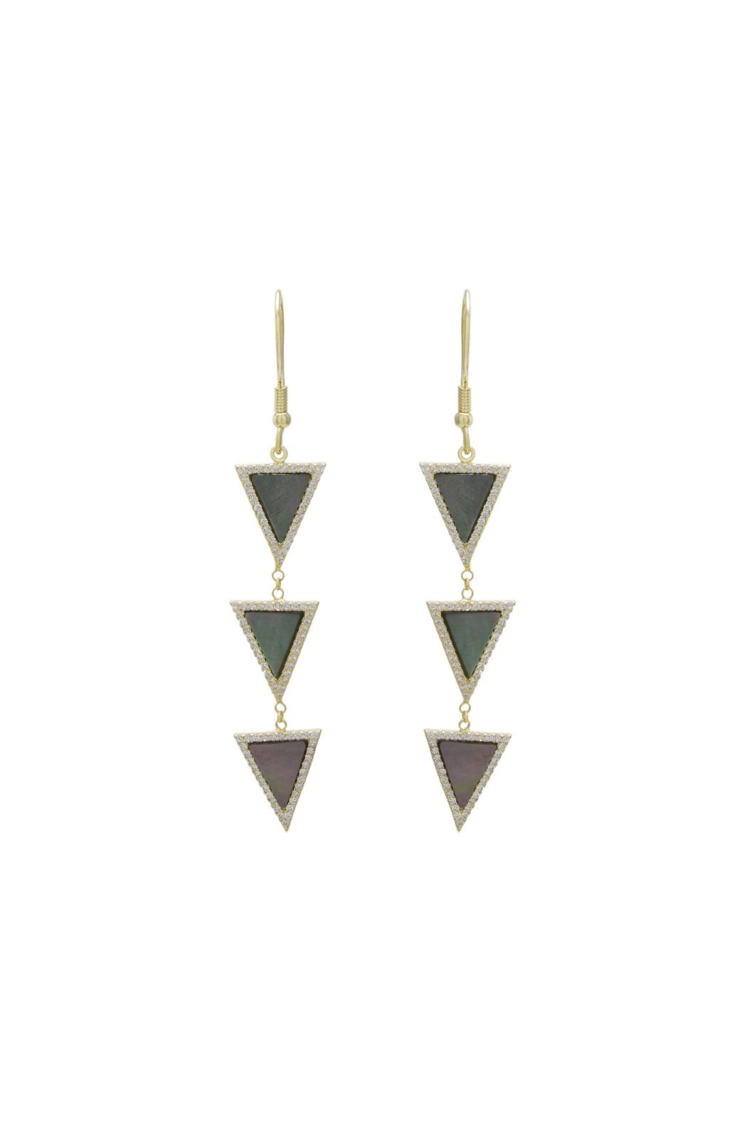 Gemma Collection Triangle Drop Earrings - Main Image