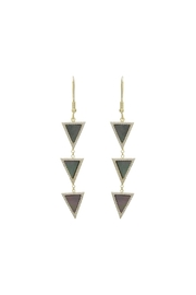 Gemma Collection Triangle Drop Earrings - Product Mini Image