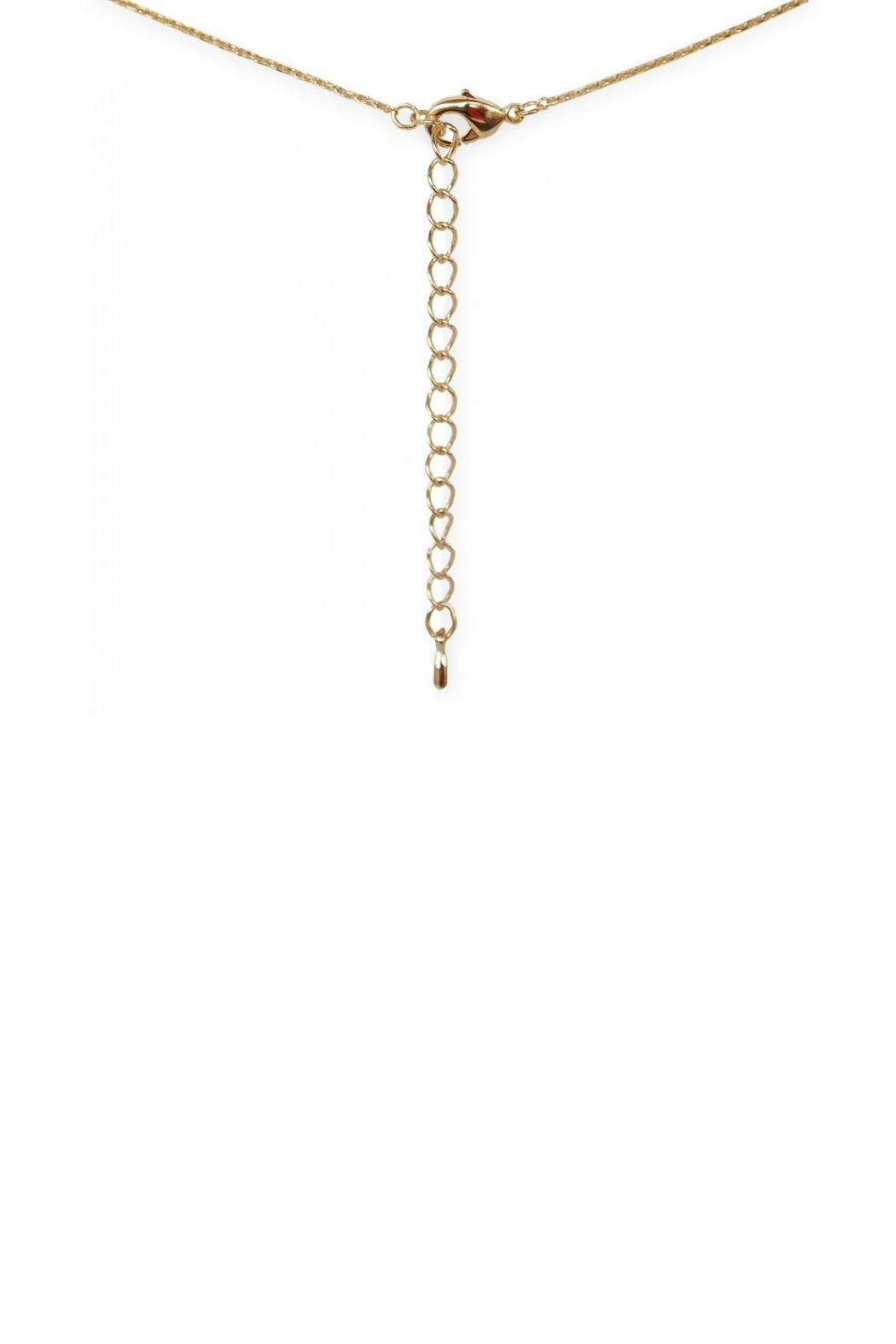 Gemma Collection Triangle Lariat Necklace - Front Full Image