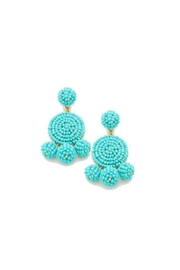 Gemma Collection Turquoise Beaded Earrings - Product Mini Image