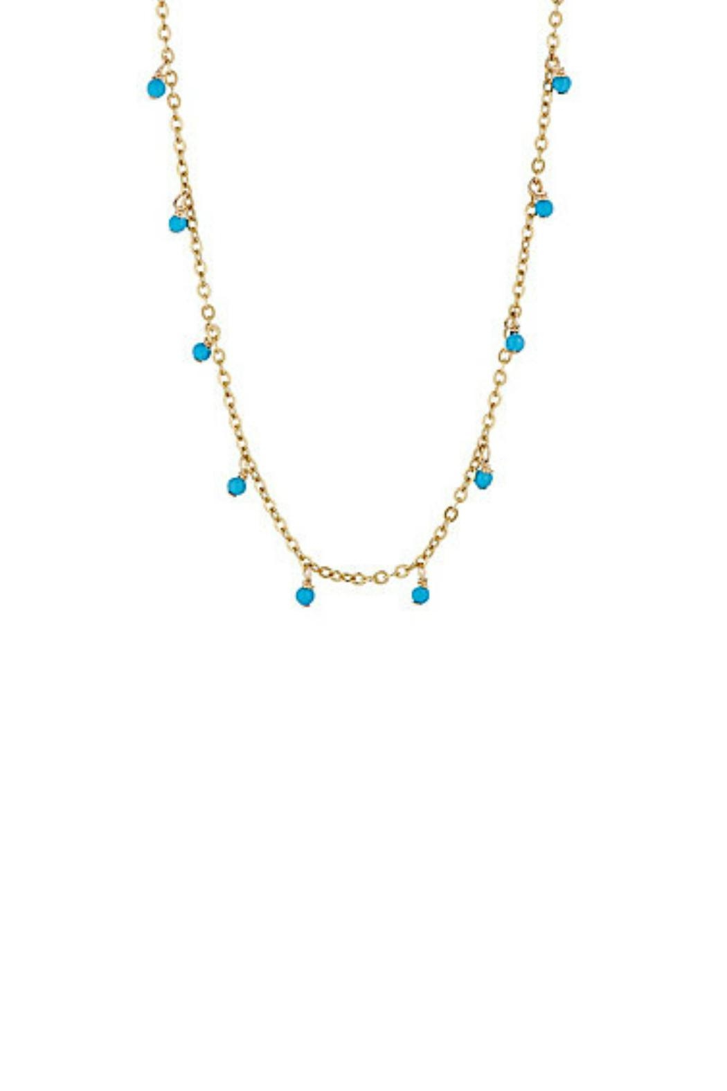 Gemma Collection Turquoise Stations Necklace - Front Cropped Image