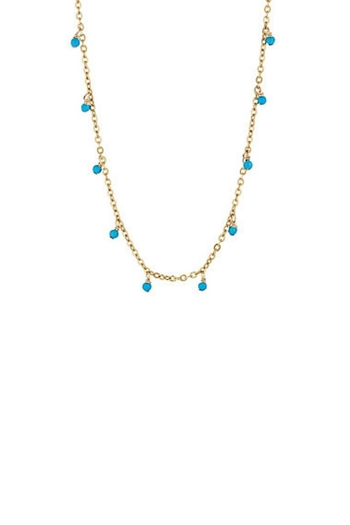 Gemma Collection Turquoise Stations Necklace - Main Image