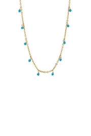 Gemma Collection Turquoise Stations Necklace - Front cropped