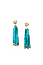 Gemma Collection Turquoise Tassel Earrings - Product Mini Image