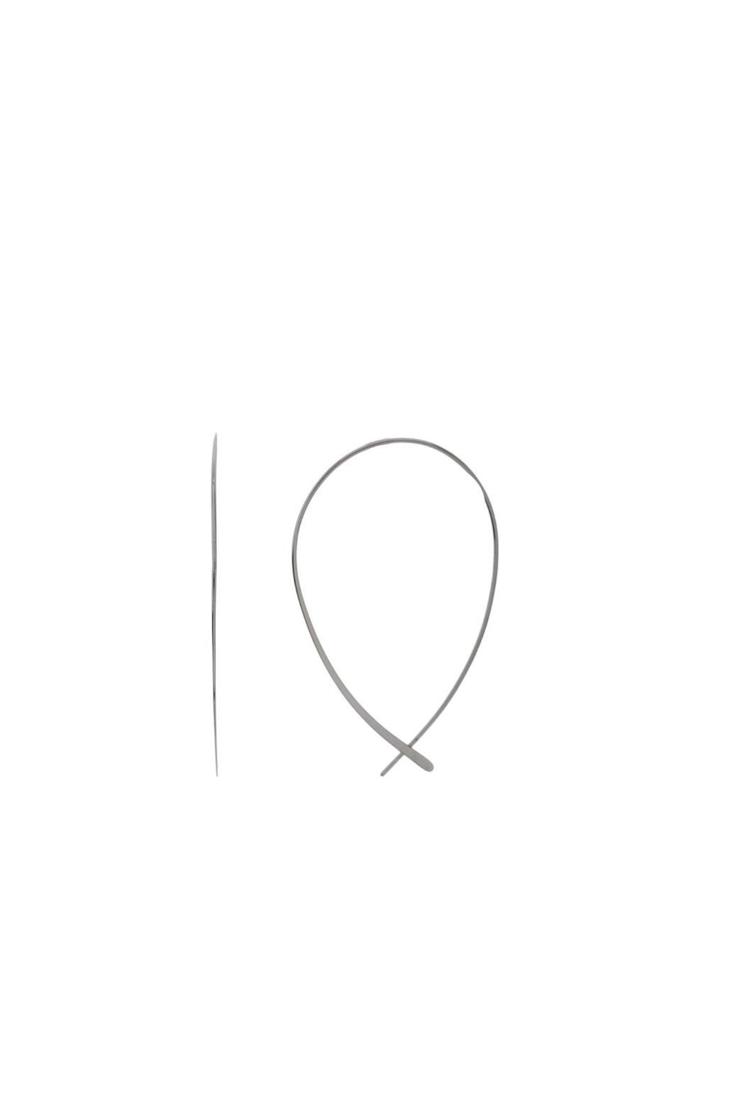 Gemma Collection Upside Down Hoops - Main Image