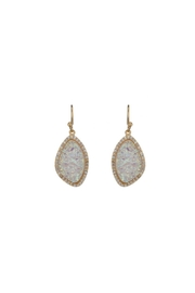 Gemma Collection White Druzy Earrings - Product Mini Image