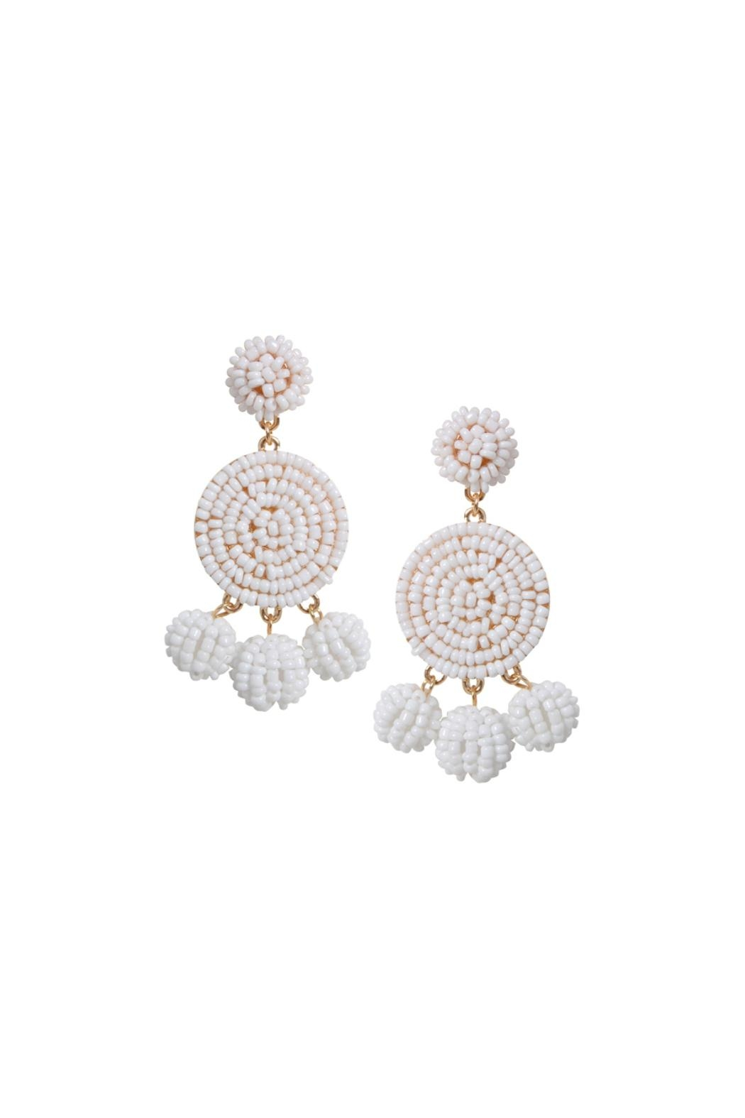 Gemma Collection White Eliano Earrings - Main Image