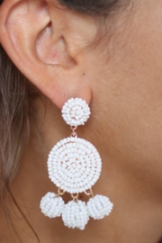 Gemma Collection White Eliano Earrings - Front full body